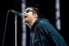 El músico de Liam Gallagher se realiza en concierto en el festival de la BOLA imágenes de archivo libres de regalías