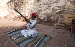 El músico de Rajasthán Fotos de archivo libres de regalías
