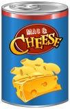 El mac y el queso adentro pueden Imágenes de archivo libres de regalías