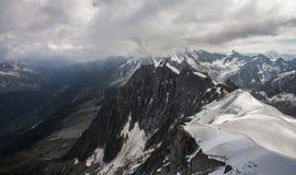 El macizo de Mont Blanc Fotos de archivo