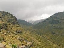 El Mackinder' valle de s en el monte Kenia fotografía de archivo libre de regalías