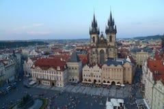 El Magneficient Tynsky Chram en Praga Imagen de archivo libre de regalías