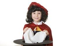 El mago de la buena magia Foto de archivo libre de regalías