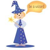 El mago de la historieta Imagen de archivo libre de regalías