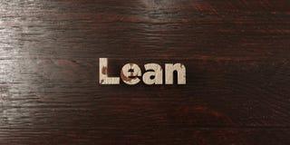 El magro - título de madera sucio en arce - 3D rindió imagen común libre de los derechos Fotografía de archivo libre de regalías