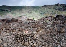 El Maipes necropolis, Agaete, Gran Canaria, Hiszpania Fotografia Stock