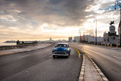 El Malecon famous sea fron promenade in Havana, Cuba Stock Photography