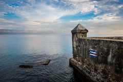El Malecon famous sea fron promenade in Havana, Cuba. At sunrise Stock Image
