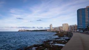El Malecon - Havana, Cuba. El Malecon in Havana, Cuba Royalty Free Stock Images