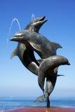 EL Malecon Puerto Vallarta México de la fuente de la amistad Fotos de archivo
