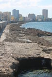 El malecon. Urban landscape of the waterfront malecon dell'havanadetta home to much tourism Stock Images
