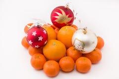 El mandarín de la colina adornó los juguetes de la Navidad Foto de archivo libre de regalías