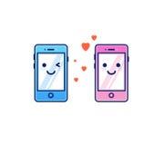 El mandar un SMS del amor Imagen de archivo