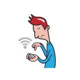 El mandar un SMS del hombre de Smartphone Fotos de archivo libres de regalías