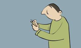 El mandar un SMS mínimo Fotos de archivo
