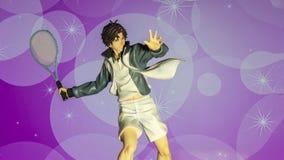 El manga 'el príncipe del tenis ' foto de archivo libre de regalías