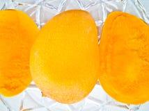 El mango y la pulpa imágenes de archivo libres de regalías