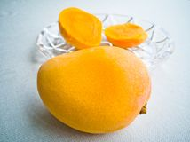 El mango y la pulpa fotos de archivo libres de regalías