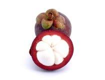 El mangostán es una fruta de Asia que ha sido muy popular Mang Imagen de archivo libre de regalías