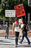 El manifestante en ocupa L.A. Fotografía de archivo libre de regalías