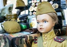 El maniquí de los niños en el uniforme militar de épocas soviéticas foto de archivo libre de regalías