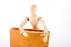 El maniquí va a hacer compras Foto de archivo libre de regalías