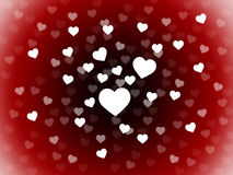 El manojo de fondo de los corazones muestra la pasión romántica y el amor Fotos de archivo libres de regalías