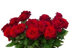 El manojo de rosas rojo oscuro se cierra para arriba Foto de archivo libre de regalías