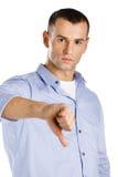 El manosear con los dedos abajo de hombre Imagen de archivo