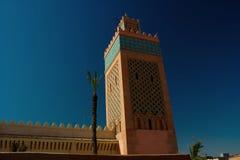 EL Manour, Marrakech la Médina de mosquée Photographie stock libre de droits