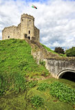 El mantener del castillo de Cardiff País de Gales, Reino Unido fotografía de archivo