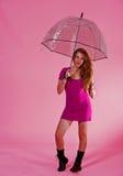 El mantener seco y el permanecer bastante en color de rosa Fotos de archivo