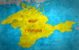 El mapa de Crimea con la extensión rusa Imagen de archivo