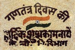 El mapa de la India, mapa de la India hizo de pedazos de las hojas de los pétalos de las flores Fotos de archivo