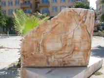 El mapa de piedra en Demre fotografía de archivo libre de regalías