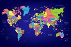 El mapa del mundo Foto de archivo libre de regalías