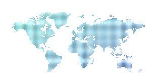 El mapa del mundo punte? el estilo, ejemplo del vector aislado en el fondo blanco imágenes de archivo libres de regalías