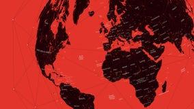 El mapa político rojo del mundo, vector el ejemplo plano stock de ilustración