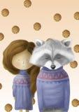 El mapache comió las galletas Foto de archivo libre de regalías
