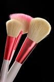 El maquillaje aplica el primer con brocha Fotografía de archivo libre de regalías