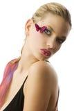 El maquillaje de la mariposa Imagen de archivo