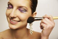 El maquillaje modelo se ruboriza Imagen de archivo