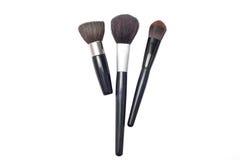 El maquillaje profesional cepilla el cosmético Fotografía de archivo libre de regalías