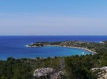 El mar adriático croata Fotografía de archivo