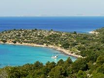 El mar adriático croata Foto de archivo