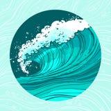 El mar agita el círculo Foto de archivo