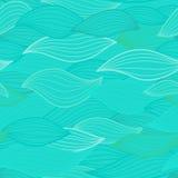 El mar agita el ejemplo Patte inconsútil de la superficie de la materia textil del papel pintado Foto de archivo libre de regalías