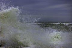 El mar agita invierno Fotografía de archivo libre de regalías