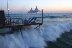 El mar agitado Imagen de archivo