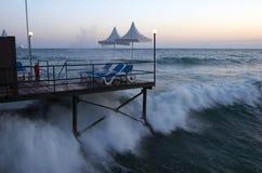 El mar agitado Fotografía de archivo